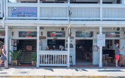 瑞克` s酒吧在基韦斯特岛 免版税库存照片