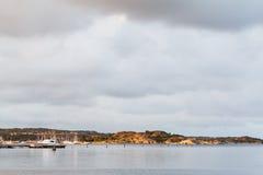 瑞典人在哥特人南部的西海岸风景 库存图片