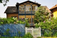 瑞典传统房子 免版税库存图片