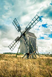 瑞典传统风车 免版税图库摄影