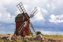 瑞典传统风车 库存图片