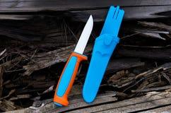 瑞典刀子 猎人的刀子 库存图片