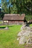 瑞典北欧海盗村庄 免版税库存照片
