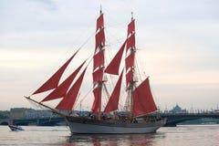 瑞典双桅船三冠 免版税图库摄影