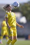 瑞典女性足球运动员-奥利维亚Schough 免版税库存图片