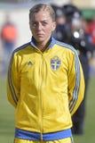 瑞典女性足球运动员-琳达Sembrant 免版税图库摄影