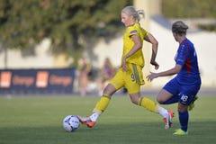 瑞典女性足球运动员-莉娜Hurtig 免版税库存图片