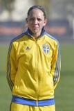 瑞典女性足球运动员- Elin Rubensson 免版税库存图片
