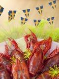 瑞典小龙虾当事人 库存照片