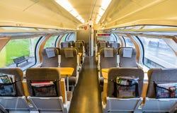 瑞典市郊火车内部  图库摄影