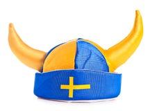 瑞典帽子,隔绝在白色 免版税库存图片
