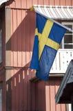 瑞典挥动的标志 免版税库存图片