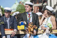 瑞典毕业游行 免版税库存图片