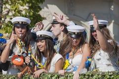 瑞典毕业游行 免版税库存照片