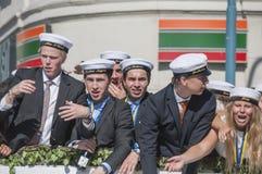 瑞典毕业游行 免版税图库摄影