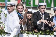 瑞典毕业游行 库存照片