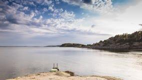 瑞典海岸 免版税库存照片