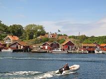 瑞典渔村, Kosterhavet 免版税库存图片