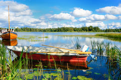 瑞典湖 库存照片