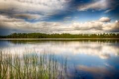 瑞典湖 免版税库存图片