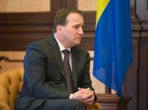 瑞典王国斯蒂芬勒文的总理 免版税库存照片