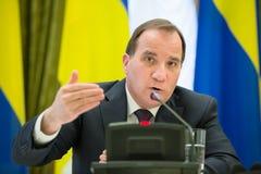瑞典王国斯蒂芬勒文的总理 库存图片