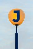 瑞典的全国铁路标志 库存照片