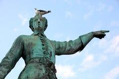瑞典的卡尔XII国王雕象  库存照片