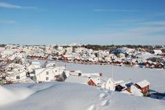 瑞典的西海岸的小村庄 库存照片