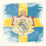 瑞典的Grunge标志 免版税库存图片
