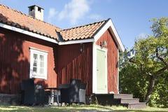 瑞典红色房子 免版税库存照片