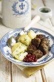 瑞典肉丸 库存图片