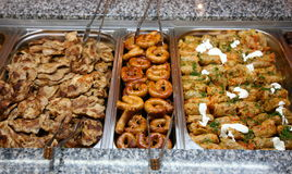 瑞典肉自助餐 库存照片