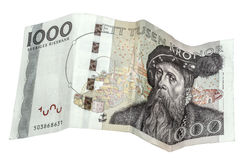 瑞典语1000克朗 免版税库存图片