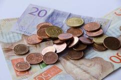 瑞典货币 免版税库存照片