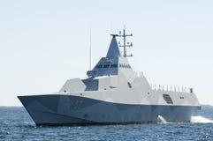 瑞典轻武装快舰HMS Helsingborg 库存图片