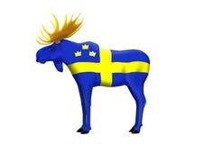 瑞典麋 库存图片