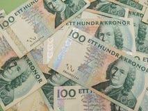瑞典货币笔记 免版税库存照片