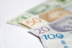 瑞典货币20, 50, 100, 200 SEK,新的布局2016年 图库摄影