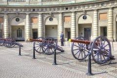 瑞典 斯德哥尔摩 在王宫前的正方形 免版税库存图片