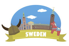 瑞典 旅游业和旅行 库存图片