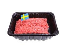 瑞典绞细牛肉 库存照片