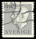瑞典-邮票1952年:在国家首脑的颜色编辑,显示古斯塔夫国王的图象第六阿道夫 库存例证