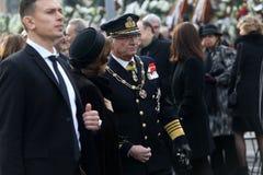 瑞典` s女王西尔维娅和卡尔十六世・古斯塔夫国王 库存照片