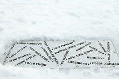 从瑞吉峰,瑞士的距离标签 库存照片