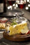 瑞士乳酪和酒在节日晚会 免版税图库摄影