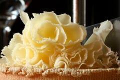 瑞士乳酪Tete de Moine 免版税库存照片