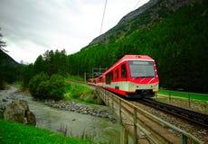 瑞士人火车 库存照片