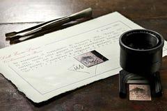 瑞士人造丝邮票 库存照片
