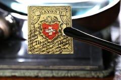 瑞士人造丝邮票 免版税库存图片